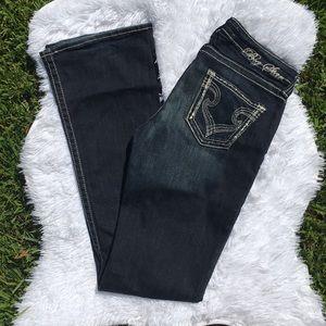 Big Star Dark Wash Hazel Curvy Boot Cut Jeans 28L